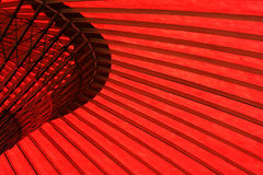details det röda paraplyet Arkivbild