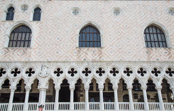 Details on Doges Palace in Venice Stock Images