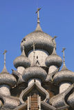 Details of the domes (Transfiguration Church). Kizhi Pogost in R Stock Photos