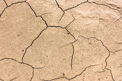 Details of a dried cracked seabed Royalty Free Stock Photography