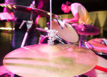 Details on the drums in the rock band Royalty Free Stock Photography