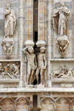 Details on Duomo cathedral in Milan Stock Photos