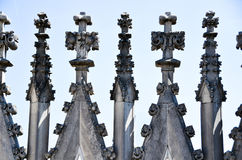 Details of duomo in milan Stock Photography