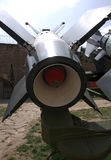 Details of effective defense anti aircraft missile system S-125 Neva/Pechora. Used to the first known shoot-down of the Lockheed F-117 Nighthawk. It happened Stock Photos