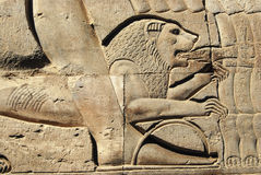 Details of an egyptian temple Stock Photo