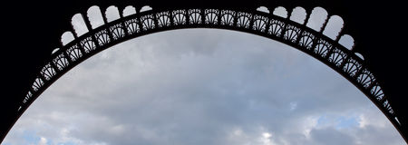 Details of Eiffel Tower arch Royalty Free Stock Photos