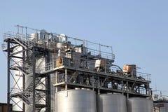 Details einer Industrieanlage Stockfoto