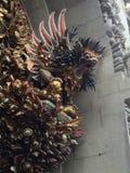 Details einer Tür zu einem Tempel, Ubud, zentrales Bali, Indonesien Stockfotografie