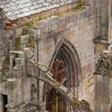 Details einer vergessenen alten schottischen Abtei Stockfoto