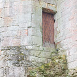 Details einer vergessenen alten schottischen Abtei Stockfotos