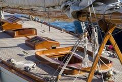 Details eines Segelboots in der alten Art Lizenzfreies Stockbild