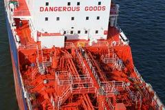 Details eines Tankers Stockbild