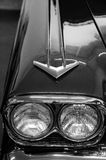 Details of elegant design of classic car from 70s.  Royalty Free Stock Images
