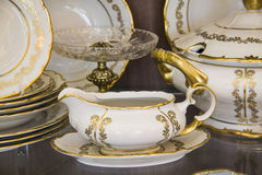 Details of Elegant tableware set Stock Photo