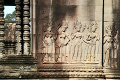 Details on the emple Ankgor Wat in Cambodia. Royalty Free Stock Image