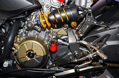 Details of the engine of a motorcycle Stock Photography