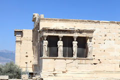 Details of Erechtheum greek temple Stock Photos