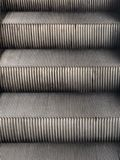 Details of escalator steps. Close-up details of stainless steel escalator steps at work in the BTS station royalty free stock images