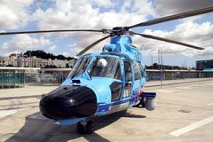 Details of the Eurocopter AS-365N-3 Dauphin 2. Stock Image