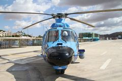 Details of the Eurocopter AS-365N-3 Dauphin 2. Royalty Free Stock Image