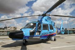 Details of the Eurocopter AS-365N-3 Dauphin 2. Royalty Free Stock Photography