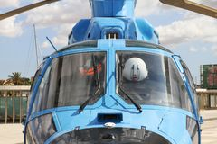 Details of the Eurocopter AS-365N-3 Dauphin 2. Royalty Free Stock Images