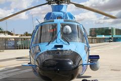 Details of the Eurocopter AS-365N-3 Dauphin 2. Stock Photos