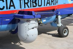 Details of the Eurocopter AS-365N-3 Dauphin 2. Stock Photo