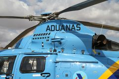 Details of the Eurocopter AS-365N-3 Dauphin 2. Royalty Free Stock Photos