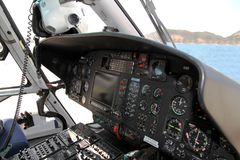 Details of the Eurocopter AS-365N-3 Dauphin 2. Stock Images
