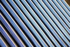 Details of evacuated tube solar collector royalty free stock photography