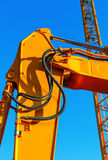 Details excavator with hydraulic clutch Stock Images