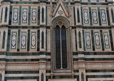Details of the exterior of the Cattedrale di Santa Maria del Fiore Cathedral of Saint Mary of the Flower. Stock Photography