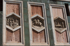 Details of the exterior of the Cattedrale di Santa Maria del Fiore Cathedral of Saint Mary of the Flower. Stock Photo