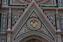 Details of the exterior of the Cattedrale di Santa Maria del Fiore Cathedral of Saint Mary of the Flower. Royalty Free Stock Images