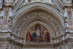 Details of the exterior of the Cattedrale di Santa Maria del Fiore Cathedral of Saint Mary of the Flower. Royalty Free Stock Image