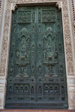Details of the exterior of the Cattedrale di Santa Maria del Fiore Cathedral of Saint Mary of the Flower. Stock Photos