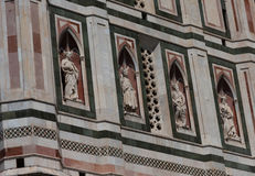 Details of the exterior of the Cattedrale di Santa Maria del Fiore Cathedral of Saint Mary of the Flower. Stock Images
