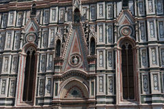 Details of the exterior of the Cattedrale di Santa Maria del Fiore Cathedral of Saint Mary of the Flower. Royalty Free Stock Photography