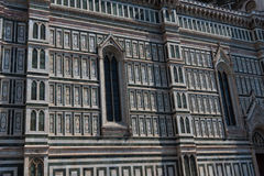 Details of the exterior of the Cattedrale di Santa Maria del Fiore Cathedral of Saint Mary of the Flower. Details of the exterior of the Cattedrale di Santa Royalty Free Stock Photo