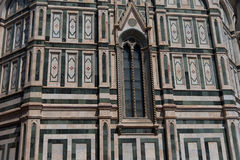 Details of the exterior of the Cattedrale di Santa Maria del Fiore Cathedral of Saint Mary of the Flower. Details of the exterior of the Cattedrale di Santa Royalty Free Stock Photos