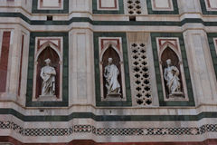 Details of the exterior of the Cattedrale di Santa Maria del Fiore Cathedral of Saint Mary of the Flower. Details of the exterior of the Cattedrale di Santa Royalty Free Stock Images