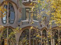 Facade of Casa Battlo - Barcelona stock photography