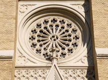 Details of facade of cathedral Name of Mary Church in Novi Sad Royalty Free Stock Image