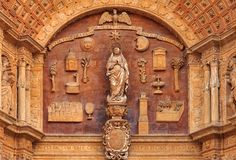 Facade of the Cathedral of Santa Maria of Palma & x28;Cathedral of St royalty free stock photography