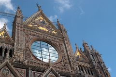 Details of facade of Cathedral in Siena Royalty Free Stock Image