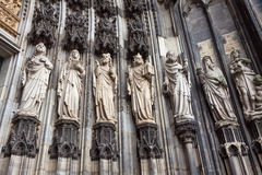Details of facade of Cologne cathedral, Germany Royalty Free Stock Photos