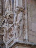 Duomo`s Cathedral - some details form the facade royalty free stock photo