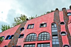 Details of the facade of the Hundertwasser House Royalty Free Stock Photos