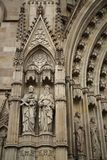Details of facade of main Cathedral of Barcelona Royalty Free Stock Image